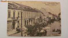 "CY - Ilustrata Lugoj ""Piata Regina Maria"", circulata 1926"