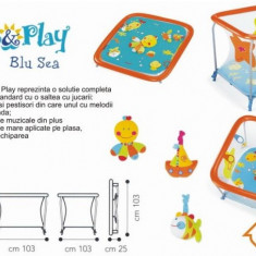 Tarc de joaca Brevi SOFT & PLAY - Blue Sea