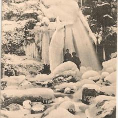 Busteni - Cascada Urlatoarea ( iarna) - interbelica