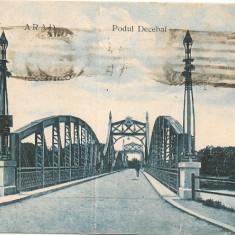 Arad - Podul Decebal - Carte Postala Crisana dupa 1918