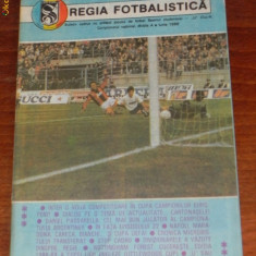 REGIA FOTBALISTICA - PROGRAM SPORTUL STUDENTESC - UNIVERSITATEA U CLUJ 1989 - Program meci
