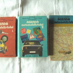 """""""AGENDA AUTOMOBILISTULUI"""", Vol. 1+2+3, Dan Vaiteanu si colectivul, 1984. Auto"""