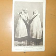 Carte postala port popular costum romanesc femei sasi tarani Sibiu Drotleff Hermannstadt 1917