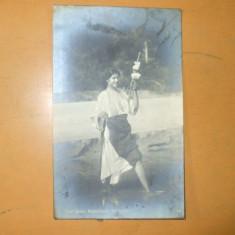 Carte Postala Port popular costum romanesc femeie fus apa Rumanien Rumanische Schonheit