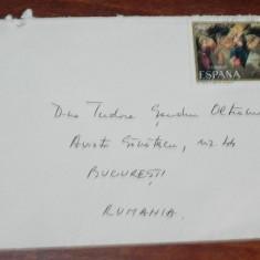 PLIC CIRCULAT SPANIA - ROMANIA. 1983.