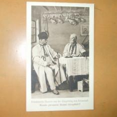 Carte postala port popular costum romanesc Brasov Kronstadt Brasso Drotleff Hermannstadt 1917