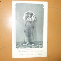 Carte Postala Port popular costum romanesc femeie Costume rumeno Alterocca Terni foto Alinari