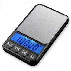 Cantar electronic digital de precizie, platou inox pt bijuterii-XTB 1000g x 0.1g