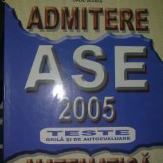 Admitere Matematica 2005 - Teste admitere facultate
