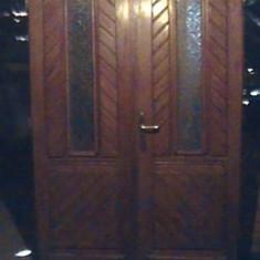 Usi din lemn de fag masive de intrare cu luneta