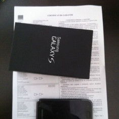 Samsung Galaxy S GT I9000 Garantie - Telefon mobil Samsung Galaxy S, Negru, 8GB