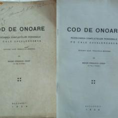 Maior Draghici Iosef , Regimentul 6 Vanatori , Cod de onoare , rezolvarea conflictelor personale pe cale cavalereasca , 1924, Alta editura