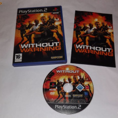 Joc Playstation 2 - PS2 - Without Warning - Jocuri PS2 Sony, Actiune, Toate varstele, Single player