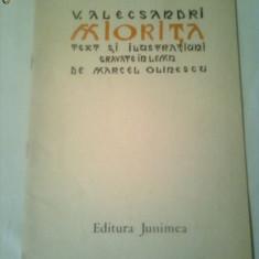 MIORITA ~ V.ALECSANDRI - editie de lux  ~ TEXT SI ILUSTRATIUNI GRAVATE IN LEMN DE MARCEL OLINESCU