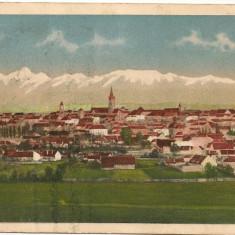 Sibiu - Vedere generala - 1938 - Carte Postala Transilvania dupa 1918, Circulata, Printata