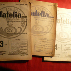 3 nr. Revista Filatelia 1945-1946 : nr. 18, 43, 44