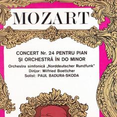 MOZART -CONCERT NR 24 PENTRU PIAN SI ORCHESTRA IN DO MINORF FORMAT MARE VINIL - Muzica Opera