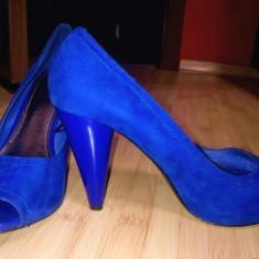 Pantofi ZARA - Pantof dama, Albastru, 37 1/3