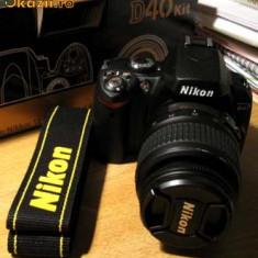 Aparat foto DSLR NIKON D40, Kit (cu obiectiv), Sub 8 Mpx, HD