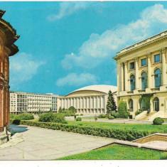 Carte postala-BUCURESTI-Piata Palatului - Carte Postala Muntenia dupa 1918