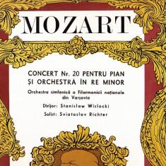 MOZART CONCERT NR 20 PENTRU PIAN SI ORCHESTRA IN RE MINOR PROFIL MARE VINIL - Muzica Opera