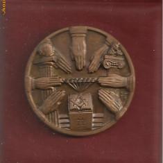 MEDALIA MASONERIA - gravor N.Salvadori (primo capitolo italiano dei massoni, Firenze, 1976)