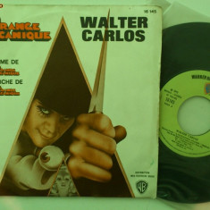Disc vinil vinyl pick-up Electrecord WALTER CARLOS Orange Mecanique Records Warner Bros Classical 1972 FORMAT MIC 16 145 rar vechi colectie - Muzica Dance