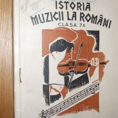 ISTORIA MUZICII  CONTIMPORANE SI MODERNE LA ROMANI - Mihai Gr. Poslusnicu - 1935
