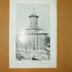 Plansa Casa Rosetti + Biserica greco - catolica Bucuresti