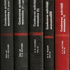H. B. Maynard ( editor ) - Conducerea activitatii economice - Vol. II, III, IV si V ( partea I si II )