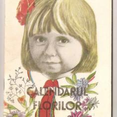 (C1059) CALENDARUL FLORILOR DE MARIANA TARANU RATIU, EDITURA ION CREANGA, BUCURESTI, 1986, COPERTA SI ILUSTRATII DE RODICA GHILEA - Carte poezie copii