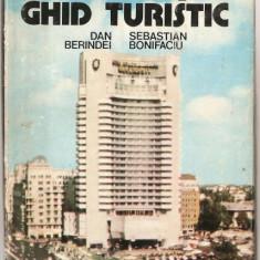 (C1053) BUCURESTI GHID TURISTIC DE DAN BERINDEI SI SEBASTIAN BONIFACIU, EDITURA SPORT-TURISM, BUCURESTI, 1980, COPERTI CARTONATE, SUPRACOPERTA - Ghid de calatorie