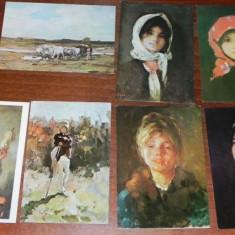 Carti postale ARTA. PICTURA. NICOLAE GIROGRESCU - CIOBANAS. CAP DE FATA. CAR CU BOI - Carte postala tematica