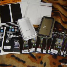 Bumper iPhone 4G sau 4S, folie protectie fata + spate CADOU! - Bumper Telefon Apple