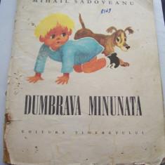 DUMBRAVA MINUNATA - MIHAIL SADOVEANU, EDITURA TINERETULUI 1967, 52 PAGINI . - Carte de povesti