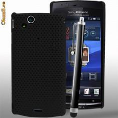 Husa plastic Sony Ericsson SE Xperia Arc X12 + folie ecran - Husa Telefon Sony, Negru