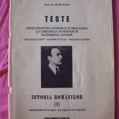TESTE PENTRU PREGATIREA EXAMENULUI DE BACALAUREAT SI A CONCURSULUI DE ADMITERE IN INVATAMANTUL SUPERIOR - Teste Bacalaureat