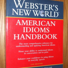 AMERICAN IDIOMS HANDBOOK by Gail Brenner - Dictionar Altele