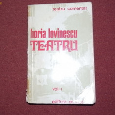 Horia Lovinescu - Teatru Vol.1 - Carte traditii populare