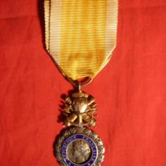 Medalie Militara Franta- A IIIa Republica 1870 ,argint 916