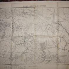 Harta Jilava - Planul director de tragere - serviciu geografic al armatei - 1929