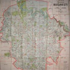 Planul Municipiului Bucuresti - 1939