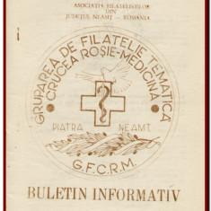 Buletin Informativ al Gruparii de Cruce Rosie - Medicina, Piatra Neamt Nr. 7-8 / 1990