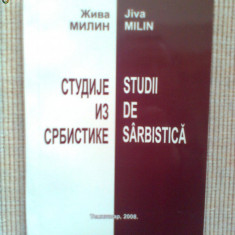 Studii de sarbistica jiva milin carte timisoara 2008