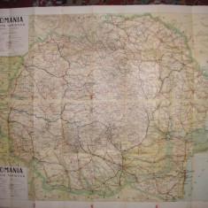 Romania - Harta turistica - 1939 - Harta Romaniei