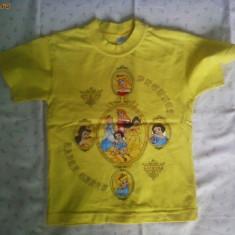 Tricou galben Printese Disney, Marime: 4-5 ani