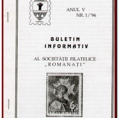Buletin Informativ al Societatii Filatelice Romanati, Caracal Nr. 1 / 1996