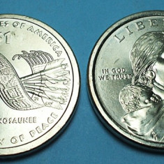 SUA 2010 - 1 DOLLAR - NATIVE AMERICAN - UNC, America de Nord, Cupru (arama)
