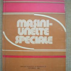 MASINI UNELTE SPECIALE carte tehnica mecanica stiinta ilustrata