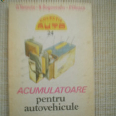 Acumulatoare pentru autovehicule carte auto ilustrata